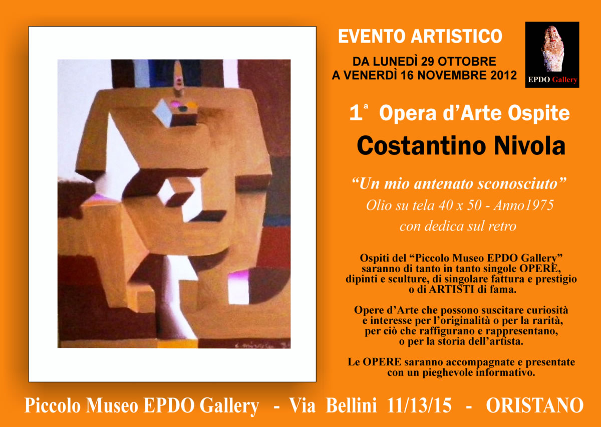 Dipinto di Costantino Nivola in Mostra all'Epdo Gallery